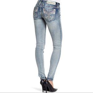 Rock Revival Womens Crystal Bling Skinny Jeans
